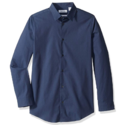 Calvin Klein Boys' Long Sleeve Solid Button-down Dress Shirt $9.93