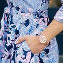 Anne Klein Women's Diamond-Accented Bracelet Watch