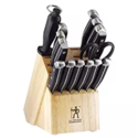 J.A. Henckels International 13550-005 Statement Knife Block Set 15-pc, Light Brown $85.04,FREE Shipping