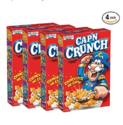 Cap'N Crunch Cereal, 14oz Boxes, 4 Count