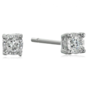 Diamond Miracle Plate Stud Earrings (1/10cttw, I-J Color, I3 Clarity) $29.00,FREE Shipping
