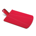 Joseph Joseph NSR016SW Chop2Pot Foldable Plastic Cutting Board 15-inch x 8.75-inch Chopping Board Kitchen Prep Mat with Non-Slip Feet 4-inch Handle Dishwasher Safe, Small, Red