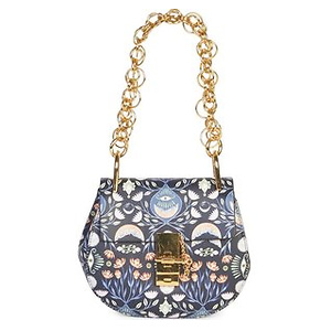 Chloe Small Drew Floral Leather Saddle Bag