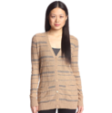 Cashmere Addiction Women's Plaid Cardigan Sweater
