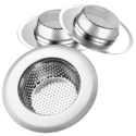 "Helect 3-Pack Kitchen Sink Strainer Stainless Steel Drain Filter Strainer with Large Wide Rim 4.5"" for Kitchen Sinks $6.40"