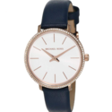 Michael Kors Women's Stainless Steel Quartz Watch with Leather Calfskin Strap $59.99,free shipping