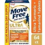 最新款! Move Free 维骨力,含姜黄素和罗望果,64粒