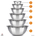 Sagler 不锈钢厨房搅拌碗 6件套