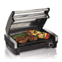 Hamilton Beach 25361 Electric Indoor Searing Grill with Removable Easy-to-Clean Nonstick Plate, Viewing Window, Stainless Steel $49.99,free shipping