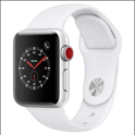Apple Watch Series 3 (GPS + Cellular, 38mm) - Silver Aluminium Case with White Sport Band $229.00