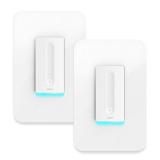 史低价!Wemo Dimmer 无线智能可调亮度电灯开关 两个装 $94.67,免运费