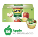 Mott's Unsweetened Applesauce, 3.9 Ounce Cup, 36 Count per box, 140.4 Ounce