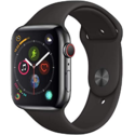 Apple Watch Series 4 (GPS + Cellular, 44mm) - Space Black Stainless Steel Case with Black Sport Band $399.00