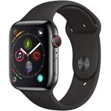 史低价!Apple Watch Series 4 智能手表(GPS + Cellular, 44mm),不锈钢表壳+黑色运动表带 $399.00 免运费