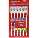 Colgate Extra Clean Toothbrush, Full Head, Soft, 6 Count
