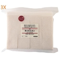 MUJI Makeup Facial Soft Cut Cotton Unbleached 60x50 mm 140pcs (3X140pcs)