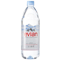 evian Natural Spring Water 1 Liter, 12 Count