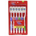 Colgate Extra Clean Toothbrush, Full Head, Medium, 6 Count