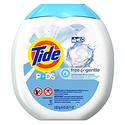 Tide Pods He Turbo Laundry Detergent Pacs Tub, Free and Gentle, 81 Count