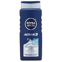NIVEA Men Active3 3-in-1 Body Wash (Pack of 3)
