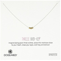 Dogeared Two-Tone Three Wishes Necklace