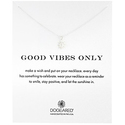 "Dogeared ""Reminder"" Good Vibes Only Silver Sun Charm Pendant Necklace"