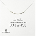 "Dogeared ""Balance"" Tube Silver Pendant Necklace, 18"""