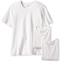 HUGO BOSS Men's 3-Pack Cotton Crew T-Shirt, White, Small