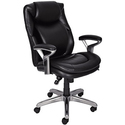 Serta 44103 Air Health and Wellness Mid-Back Office Chair, Black