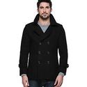 Match Men's Wool Classic Pea Coat