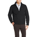 Tommy Hilfiger Men's Poly Twill Stand Collar Zip Front Jacket