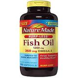 Nature Made 无腥鱼油软胶囊 防打嗝配方200粒