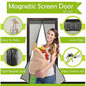 Magnetic Screen Door Durable Mesh Curtain