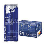 Red Bull Energy Drink, Blueberry, 24 Pack of 8.4 Fl Oz, Blue Edition (6 Packs of 4)