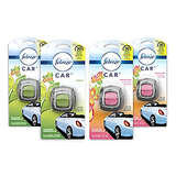 Febreze Car Air Freshener, 2 Gain Original and 2 Gain Island Fresh scents