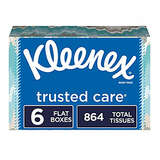 Kleenex Trusted Care Facial Tissues, 6 Flat Boxes, 144 Tissues per Box