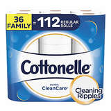 Cottonelle Ultra CleanCare Toilet Paper, Strong Bath Tissue, Septic-Safe,