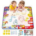 KIZZYEA Water Doodle Mat, Kids Large Aqua Coloring Mat,
