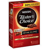 Nescafe Taster's Choice Instant Coffee, House Blend, 0.63 Ounce (Pack of 12)