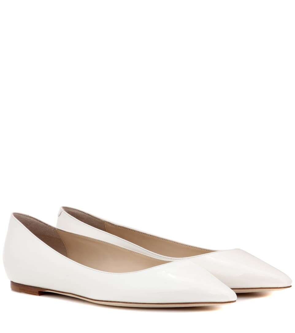 JIMMY CHOO Romy Flat patent leather ballerinas