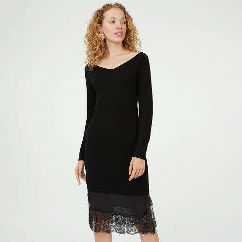 蕾丝毛衣裙