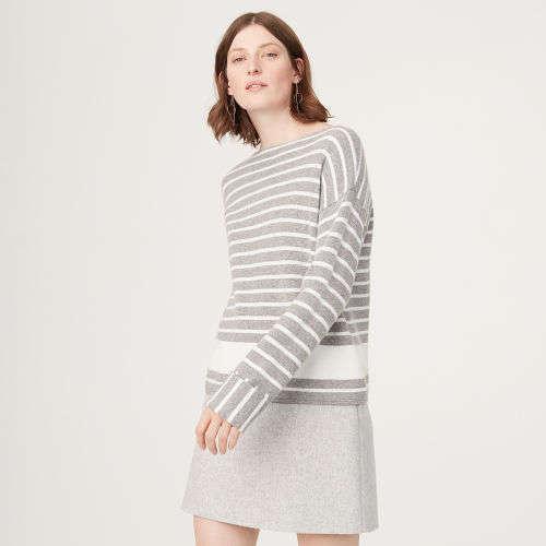 条纹毛衣裙