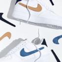 Nike 耐克 Air Force 1 07 Swoosh Patches 魔术贴运动鞋