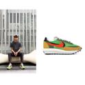 Nike X Sacai LD Waffle 绿色运动鞋