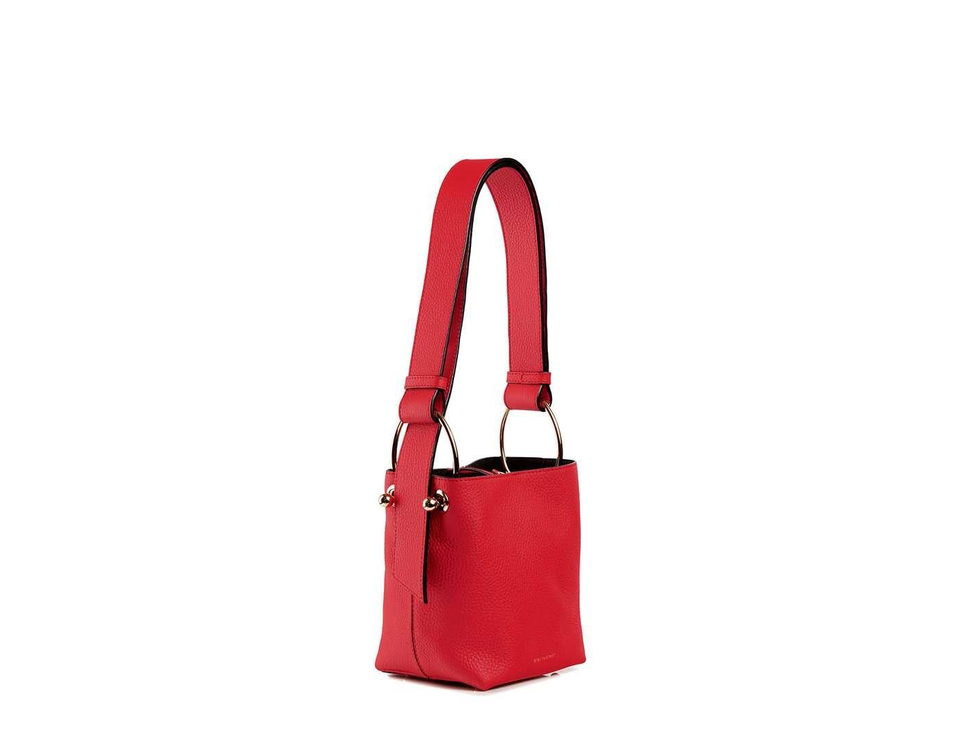 Lana Nano Bucket Bag - Ruby