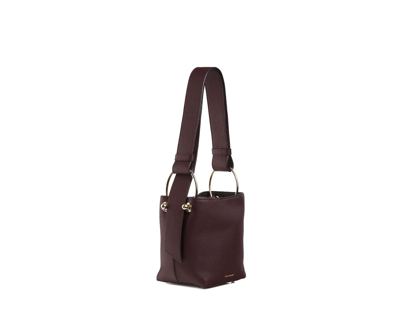 Lana Nano Bucket Bag - Burgundy