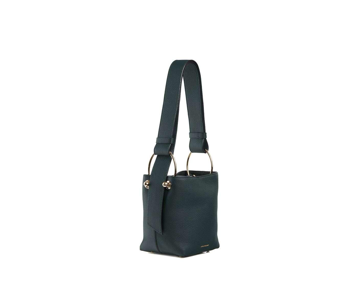 Lana Nano Bucket Bag - Bottle Green