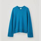 COS 蓝色开司米毛衣