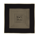 Totême  Black & Off-White Silk Venezia Scarf
