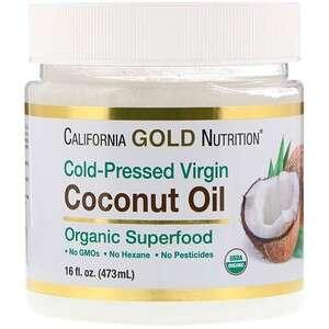 California Gold Nutrition 有机初榨椰子油